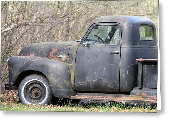 Greeting Card featuring the photograph Gmc Rusting At Rest by Mark J Seefeldt
