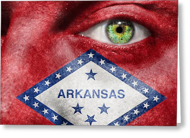 Go Arkansas  Greeting Card by Semmick Photo