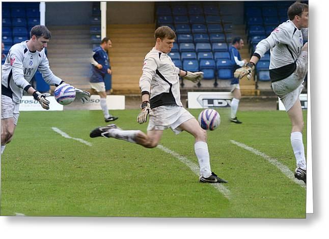 Goalkeeper Kicking Sequence Greeting Card