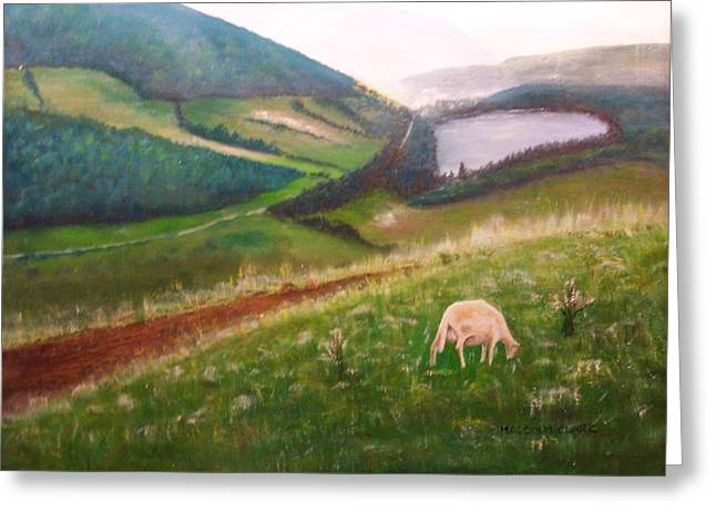 Goat On Welsh Mountain Greeting Card by Malcolm Clark