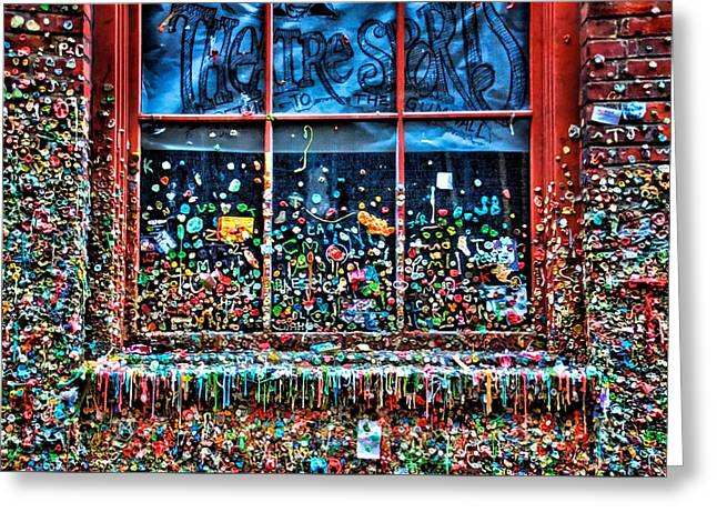 Gobs Of Gum Greeting Card by Spencer McDonald