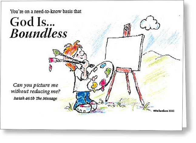 God Is Boundless Greeting Card