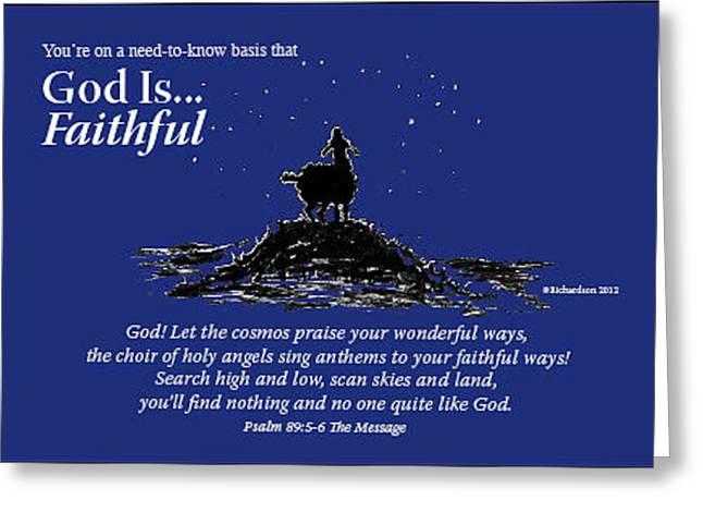 God Is Faithful Greeting Card
