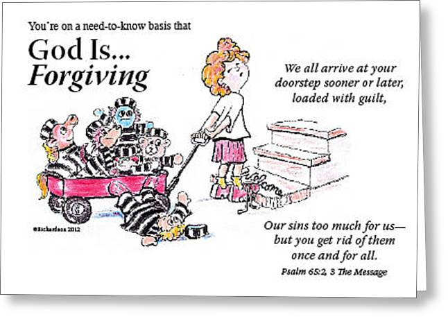 God Is Forgiving Greeting Card