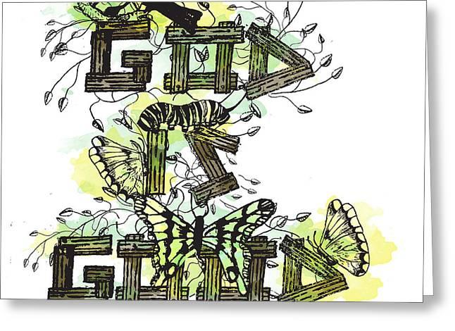 God Is Good Greeting Card by Danielle Kasony