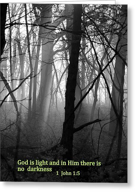 God Is Light Greeting Card by Rick Rauzi