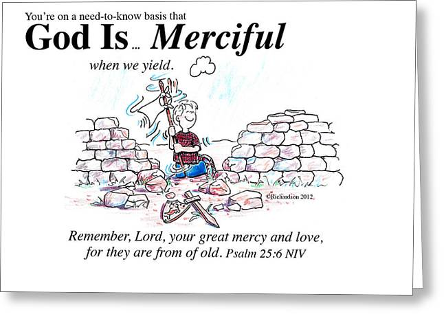God Is Merciful Greeting Card by George Richardson