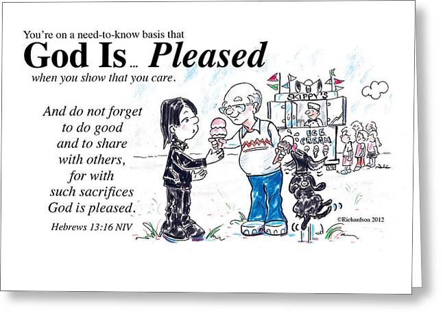 God Is... Pleased Greeting Card
