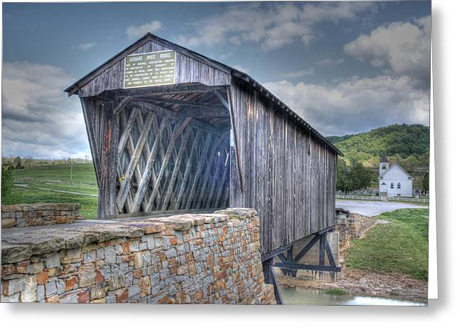 Goddard Covered Bridge Greeting Card