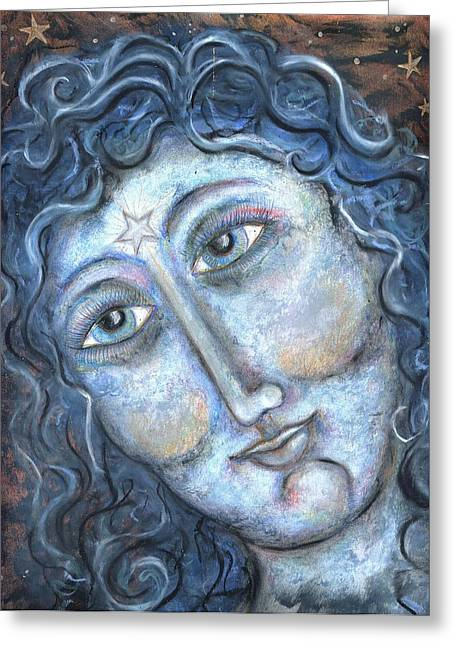 Goddess Of The Northern Star Greeting Card by Suzan  Sommers
