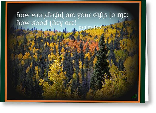 God's Gifts Greeting Card by Michelle Frizzell-Thompson
