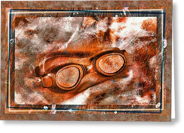 Goggles Greeting Card by Mauro Celotti