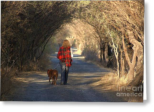 Going For A Walk  The Photograph Greeting Card