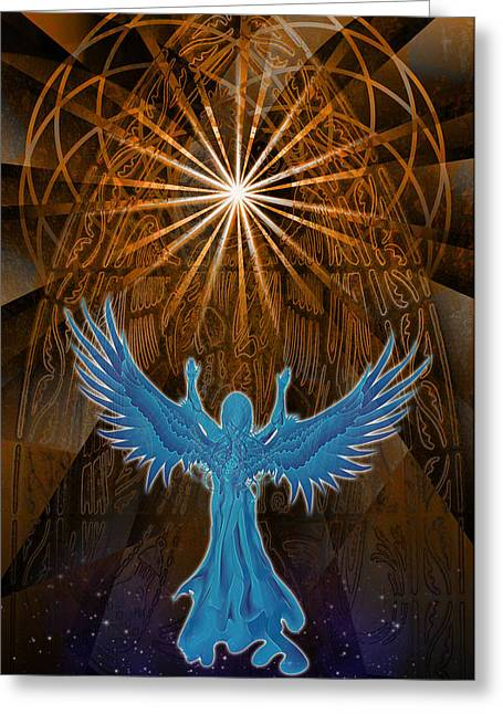 Greeting Card featuring the digital art Going Home by Kenneth Armand Johnson
