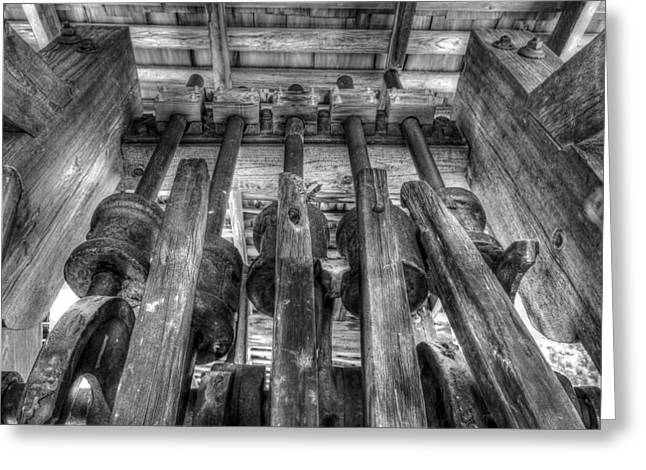 Gold And Silver Ore Crusher Greeting Card by Scott McGuire