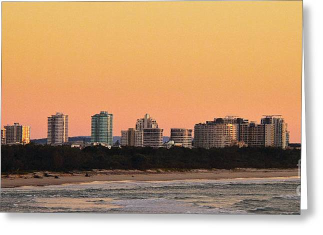 Greeting Card featuring the photograph Gold Coast Sunrise by Odille Esmonde-Morgan