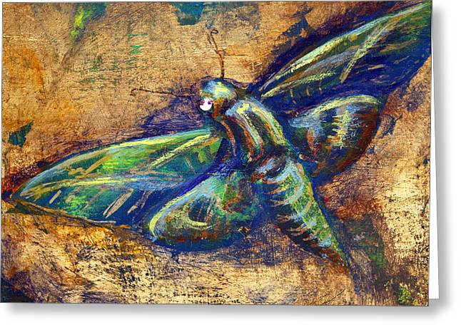 Gold Moth Greeting Card
