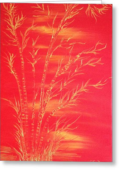 Golden Bamboo 2 Greeting Card by Pretchill Smith