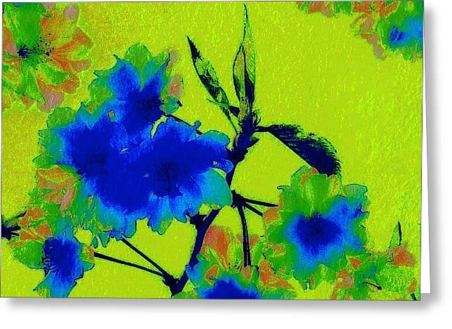 Golden Blossom Greeting Card by Jen White