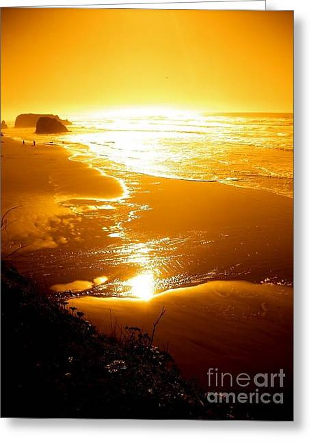 Golden Coast Greeting Card by Jeremiah Hutchison