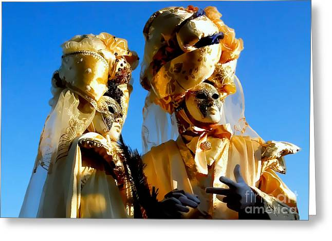 Golden Couple Of Venice Greeting Card