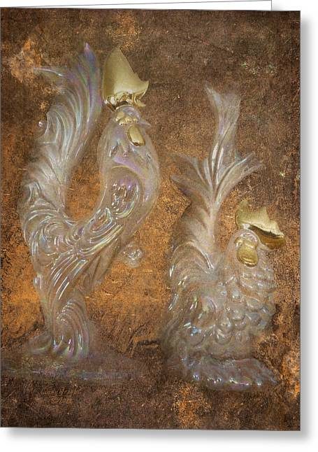 Golden Crowns Greeting Card by Cindy Wright