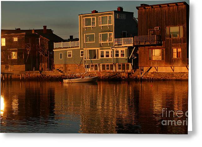 Golden Evening Greeting Card by Adrian LaRoque