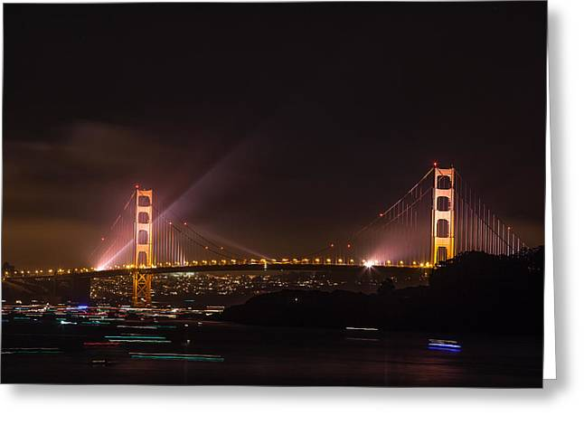 Golden Gate 75th - After The Fireworks Greeting Card