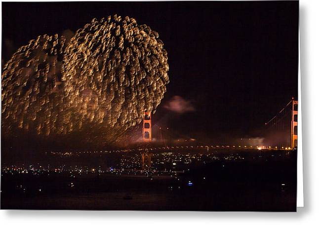 Golden Gate 75th Fireworks 35 Greeting Card