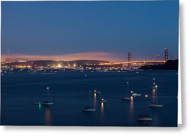 Golden Gate 75th Fireworks The Gathering Greeting Card