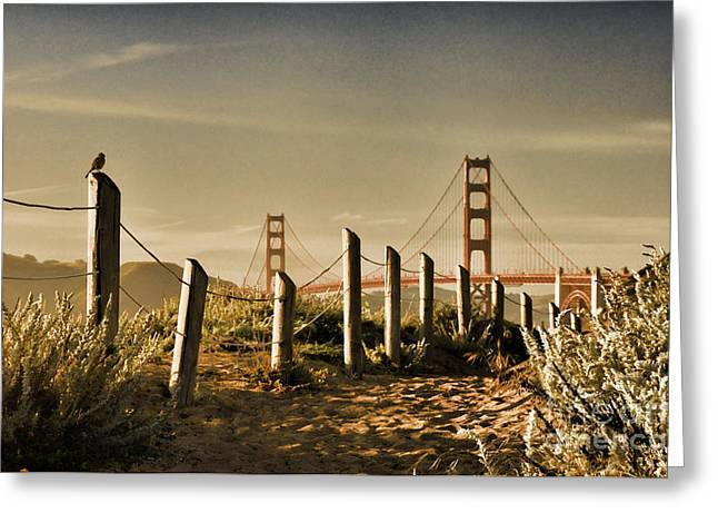 Golden Gate Bridge - 3 Greeting Card