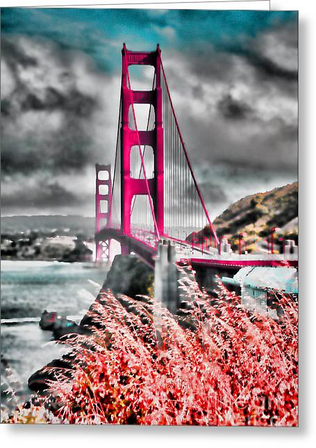 Greeting Card featuring the photograph Golden Gate Bridge - 5 by Mark Madere