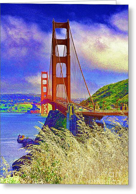 Greeting Card featuring the photograph Golden Gate Bridge - 6 by Mark Madere