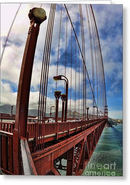 Greeting Card featuring the photograph Golden Gate Bridge - 7 by Mark Madere