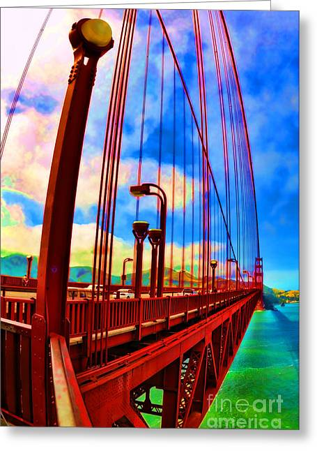 Greeting Card featuring the photograph Golden Gate Bridge - 8 by Mark Madere