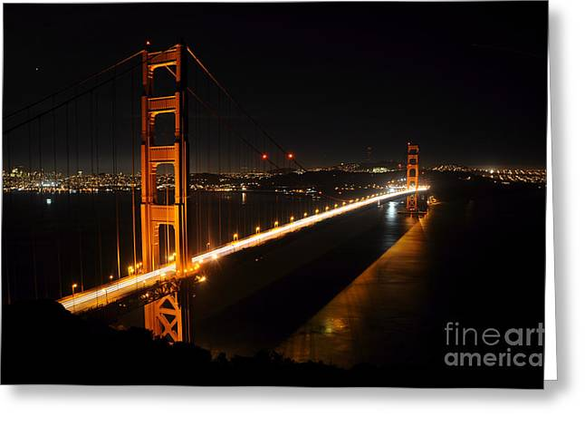 Greeting Card featuring the photograph Golden Gate Bridge 2 by Vivian Christopher