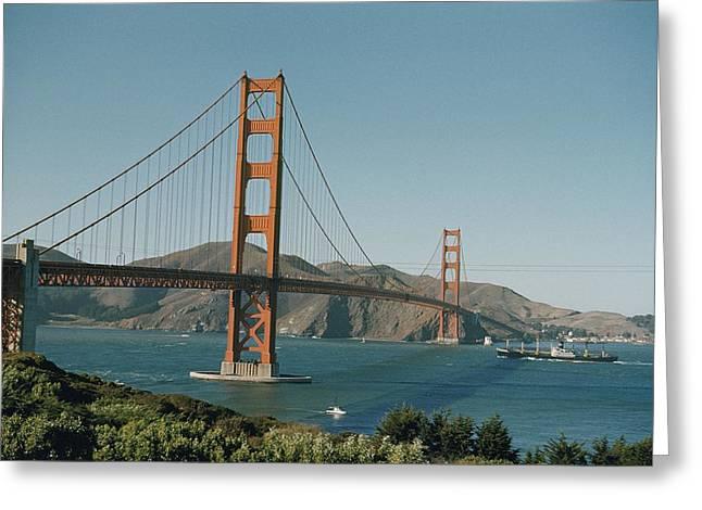 Golden Gate Bridge As Seen Greeting Card by J. Baylor Roberts
