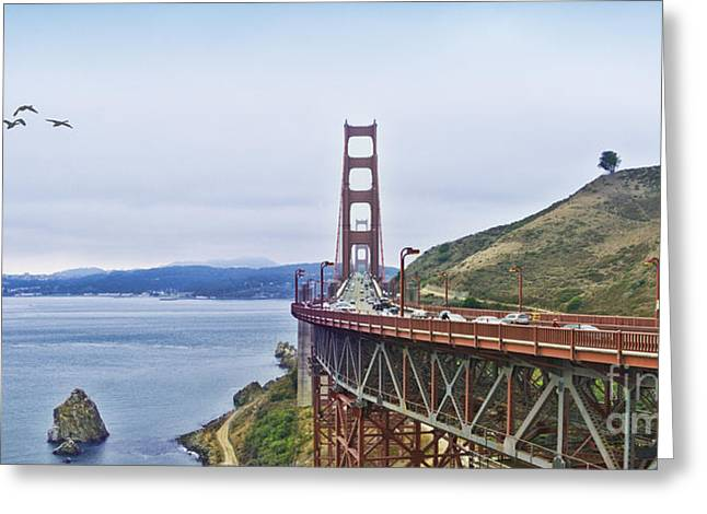 Golden Gate Bridge Greeting Card by Betty LaRue