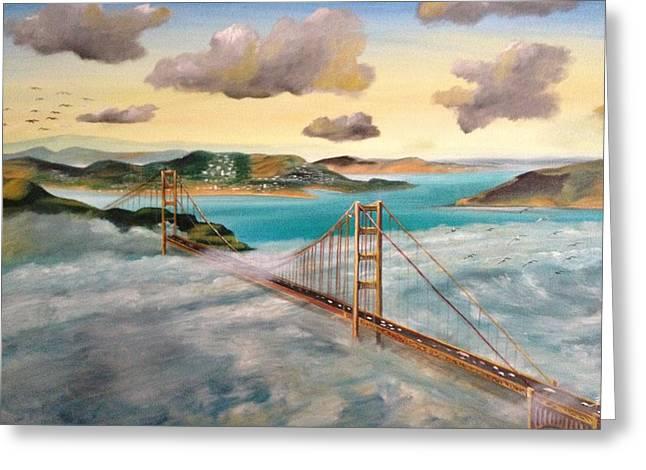Golden Gate Bridge Greeting Card by Biren