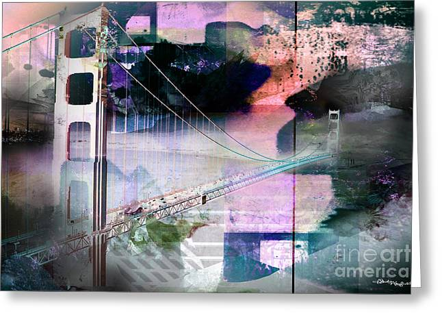 Golden Gate Bridge Greeting Card by Christine Mayfield