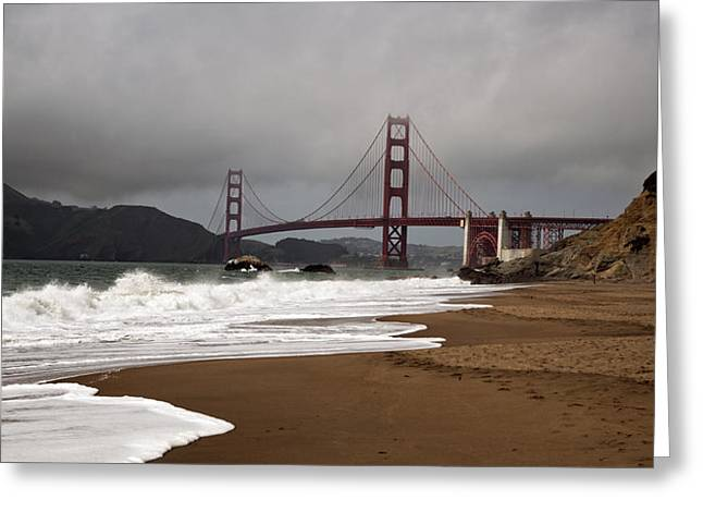 Greeting Card featuring the photograph Golden Gate Bridge by Gary Rose