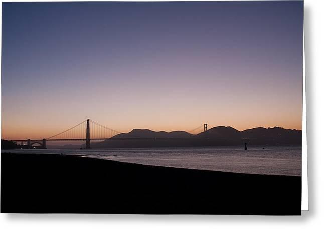 Golden Gate Greeting Card by Ralf Kaiser