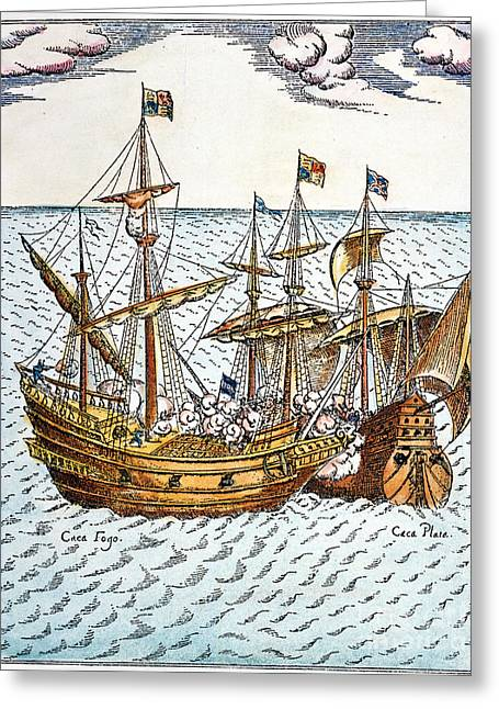 Golden Hind, 1579 Greeting Card by Granger