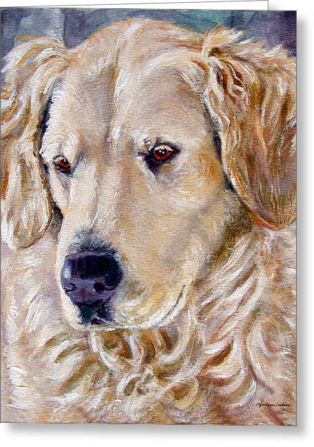 Golden In Winter Greeting Card