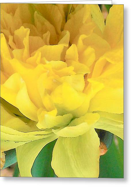 Golden Greeting Card by Wide Awake Arts