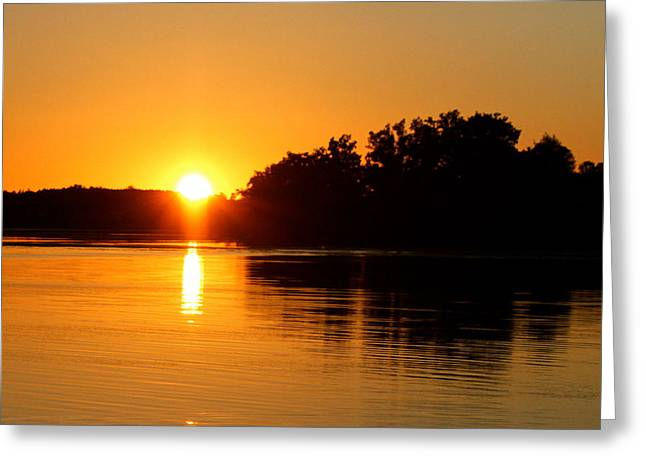 Golden Moment Greeting Card by Mike Stouffer