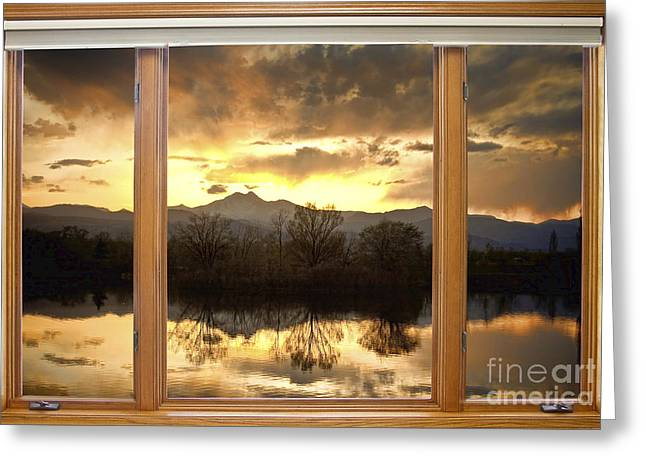 Golden Ponds Window With A View Greeting Card
