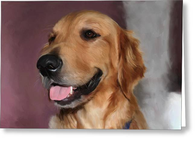 Golden Retriever Greeting Card by Snake Jagger