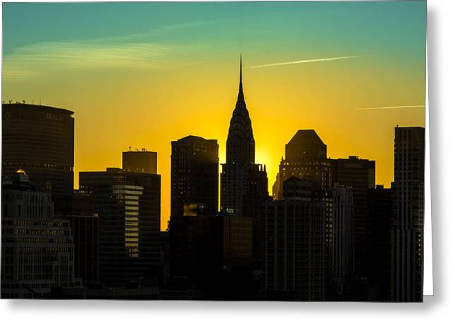 Golden Rise Greeting Card by Janet Fikar