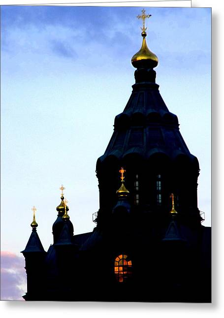 Golden Spires Greeting Card by Lee Versluis